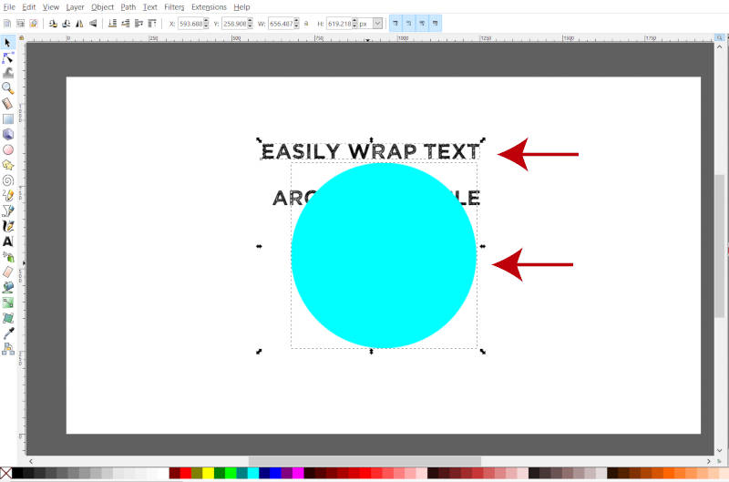 Select Two Objects Simultaneously in Inkscape
