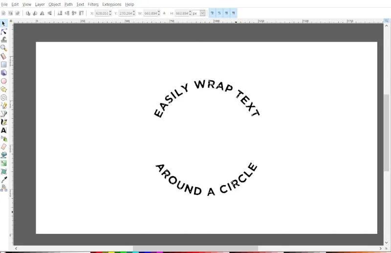 Text lindad runt en cirkel Inkscape Tutorial