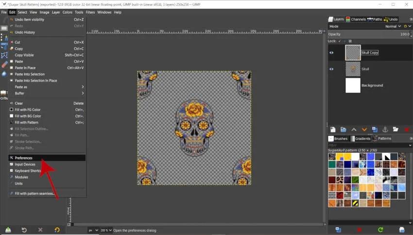 GIMP 2020 Rediger præferencer