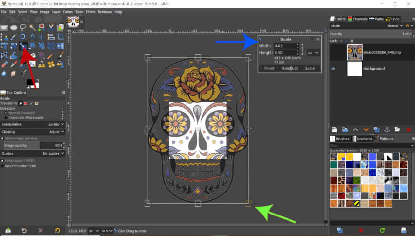 Scale Your Pattern Design in GIMP