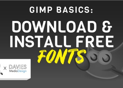 Como baixar e instalar fontes no GIMP (Windows)