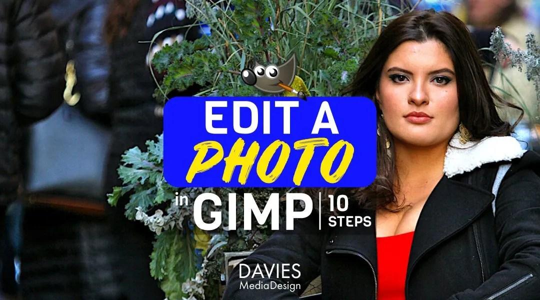 Rediger et foto i GIMP i 10 trin-tutorial