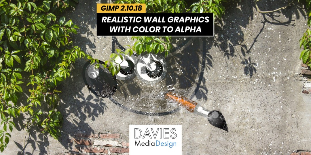 Realistic Wall Graphics with Color to Alpha GIMP Article Featured