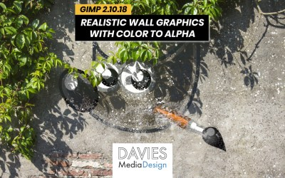 Cree gráficos de pared realistas en GIMP con color a alfa