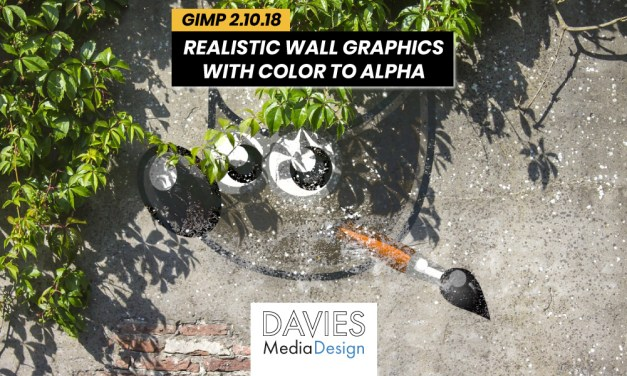 Crea grafiche murali realistiche in GIMP con Color to Alpha