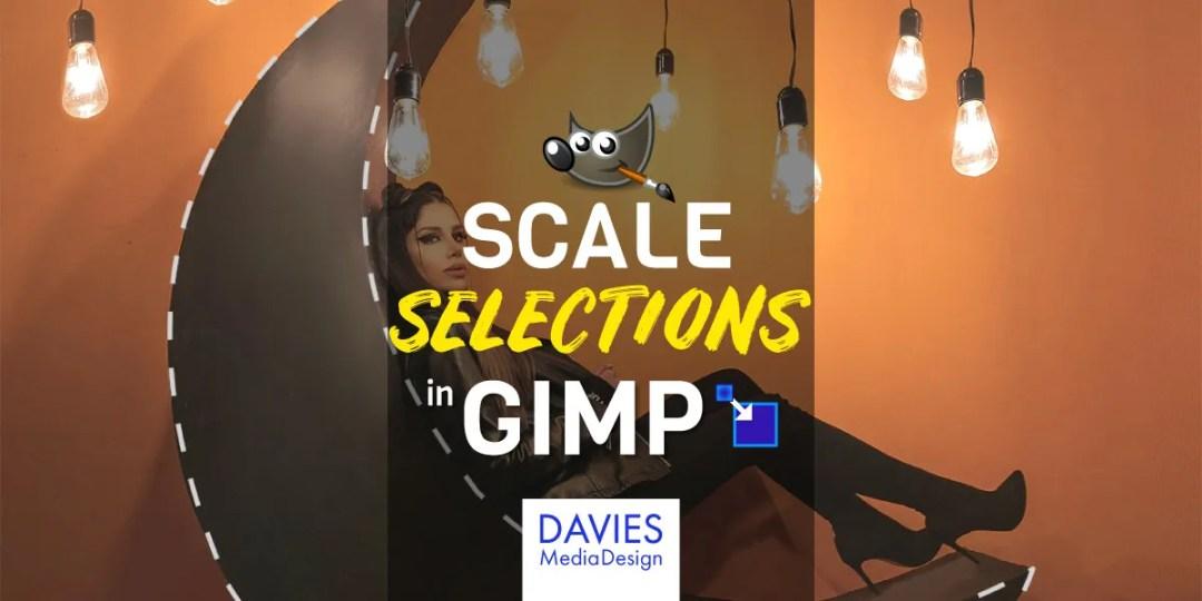 ตัวเลือกสเกลใน GIMP Tutorial