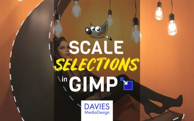 Cómo escalar una selección en GIMP
