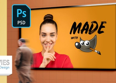 Design with PSD Templates in GIMP