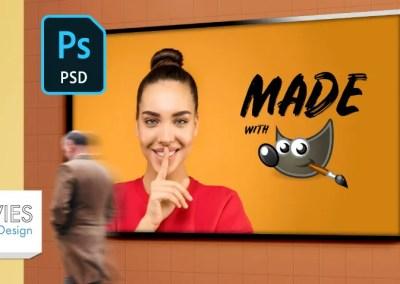 التصميم مع قوالب PSD في جيمب