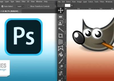 Photoshop vs GIMP: E komplette Verglach