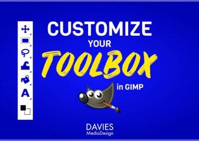 Customize GIMP Toolbox a Kolòn sèl, Koulè ikon, Zouti Gwoup