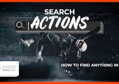 GIMPの「検索アクション」機能| GIMPで何かを見つける方法