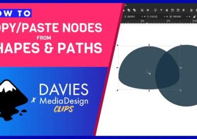 Copiați / lipiți noduri din căi și forme în Inkscape | Clipuri DMD