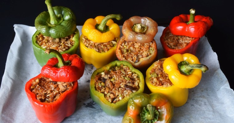 Glutinous Rice Stuffed Bell Peppers