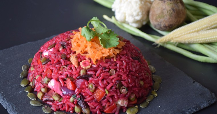 Beetroot Fried Rice