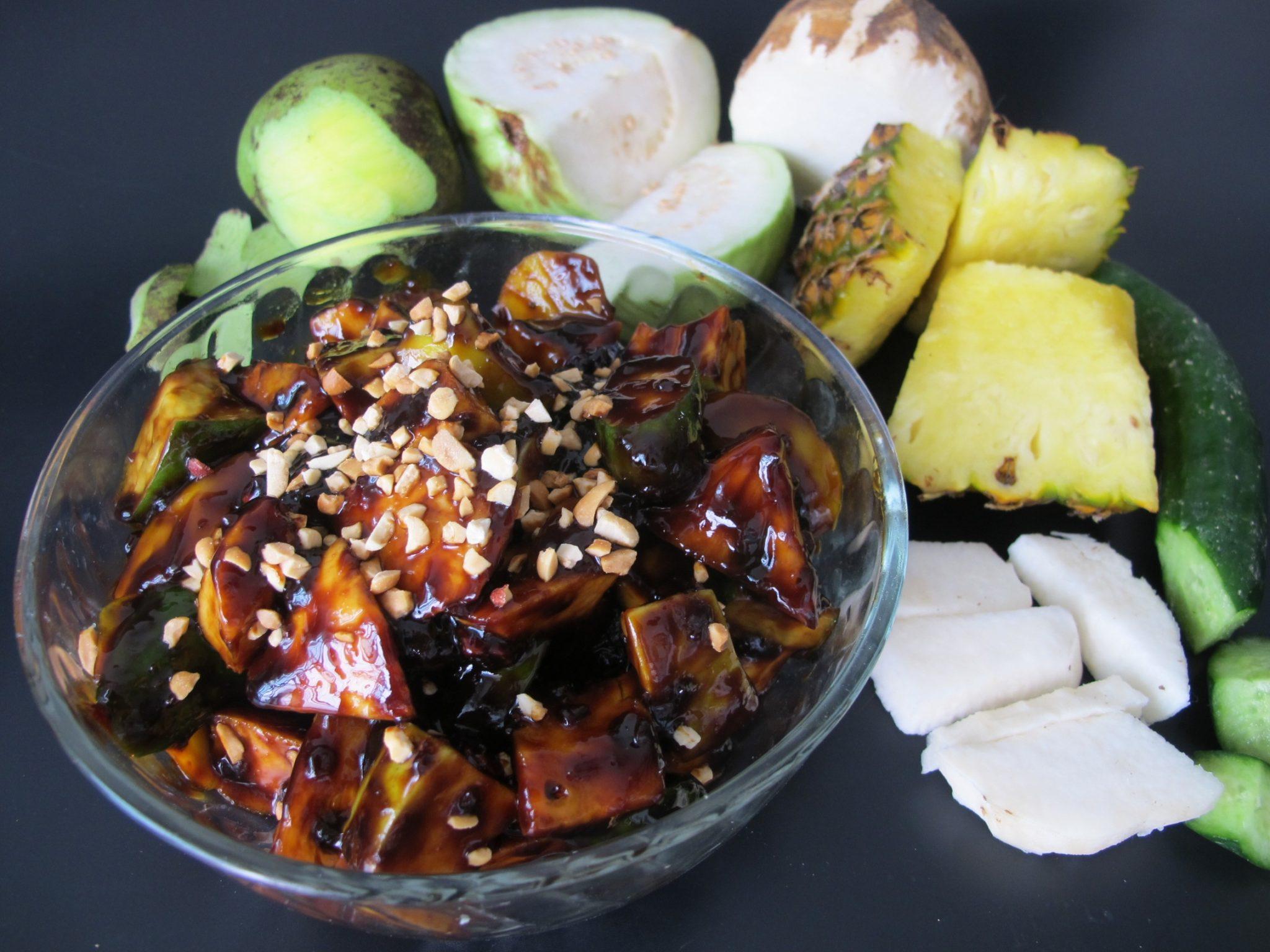 Nyonya Rojak (Savoury Fruit and Vegetable Salad)