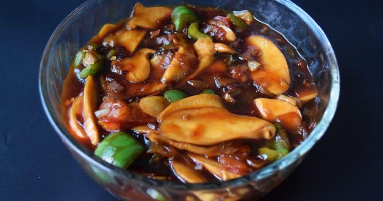 Eryngii Mushroom in Marmite Sauce