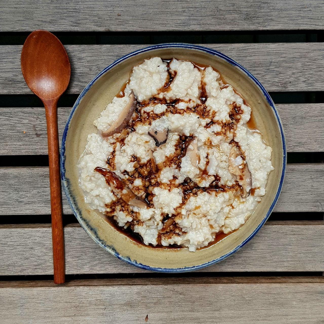 Miso and Mushroom Porridge