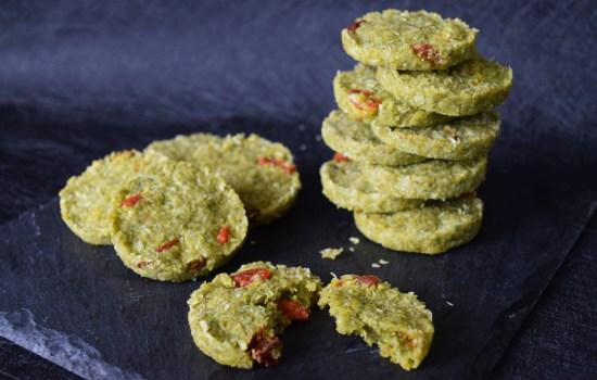 Green Tea Goji Coconut Cookies