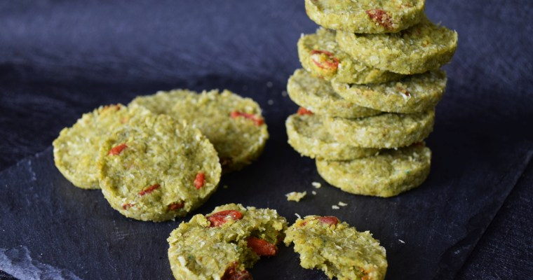 Green Tea Goji Coconut Cookies