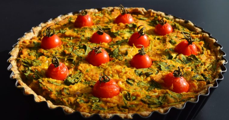 Pumpkin Tofu Quiche