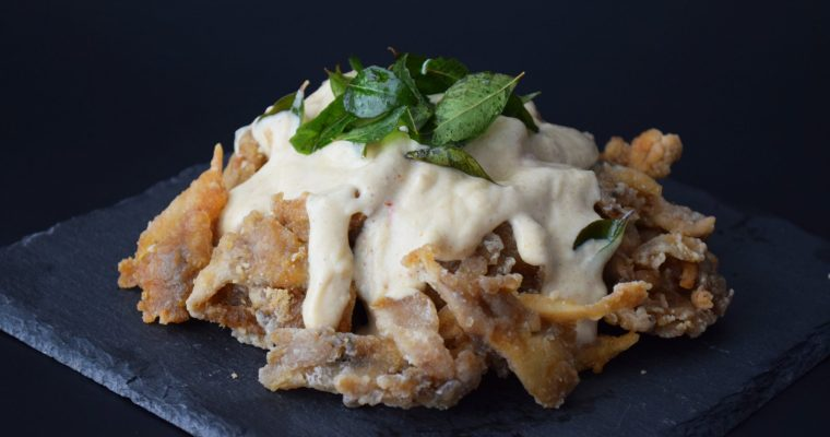 Fried Maitake with Malaysian Butter Sauce