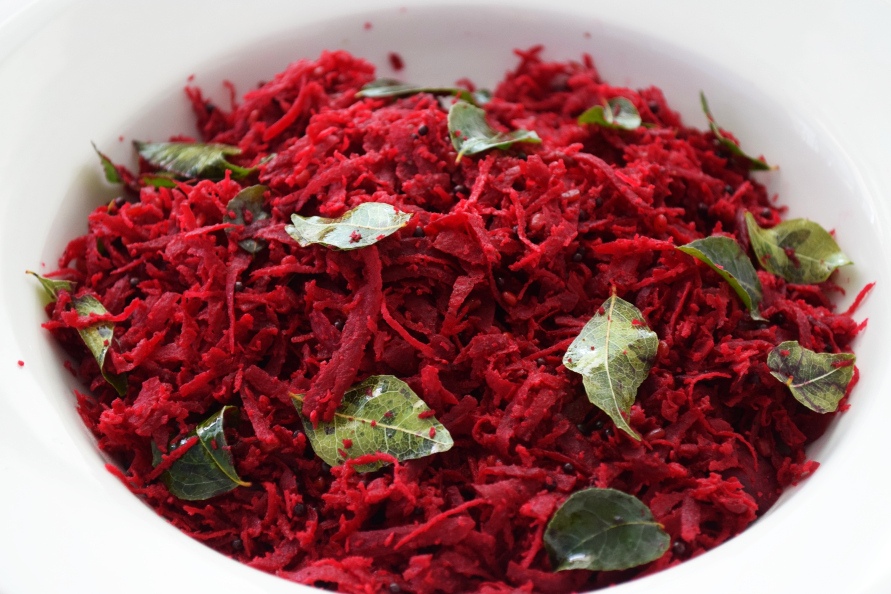 Mamak-Style Beetroot Coconut Stir-Fry