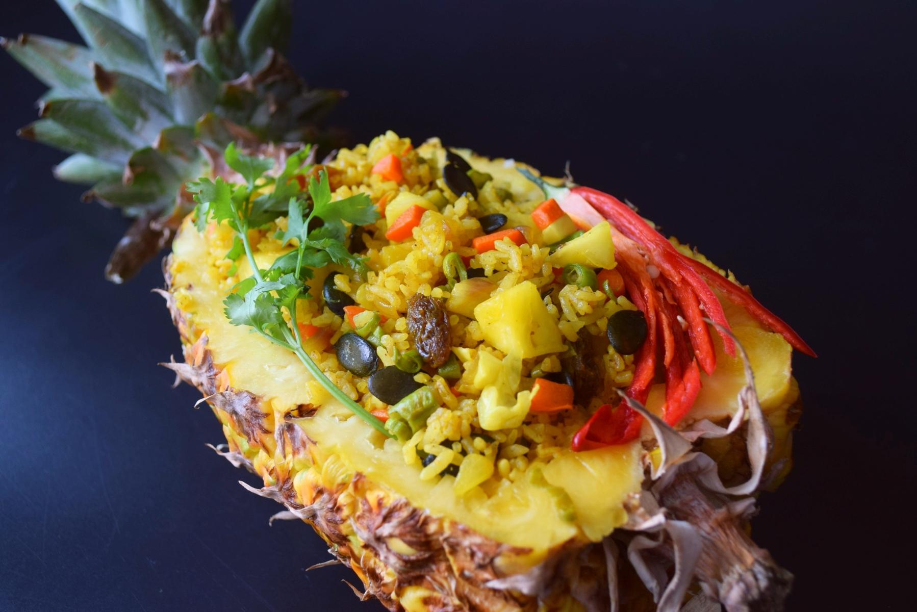 Pineapple Pumpkin Seed Fried Rice