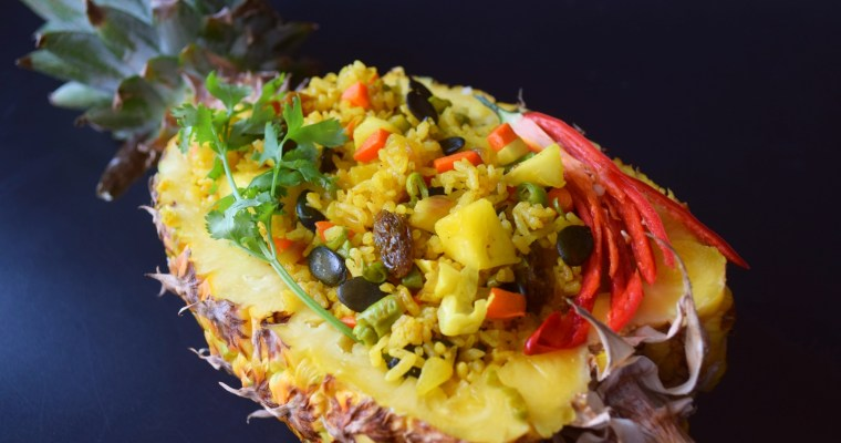 Pineapple Pumpkin Seed Fried Rice