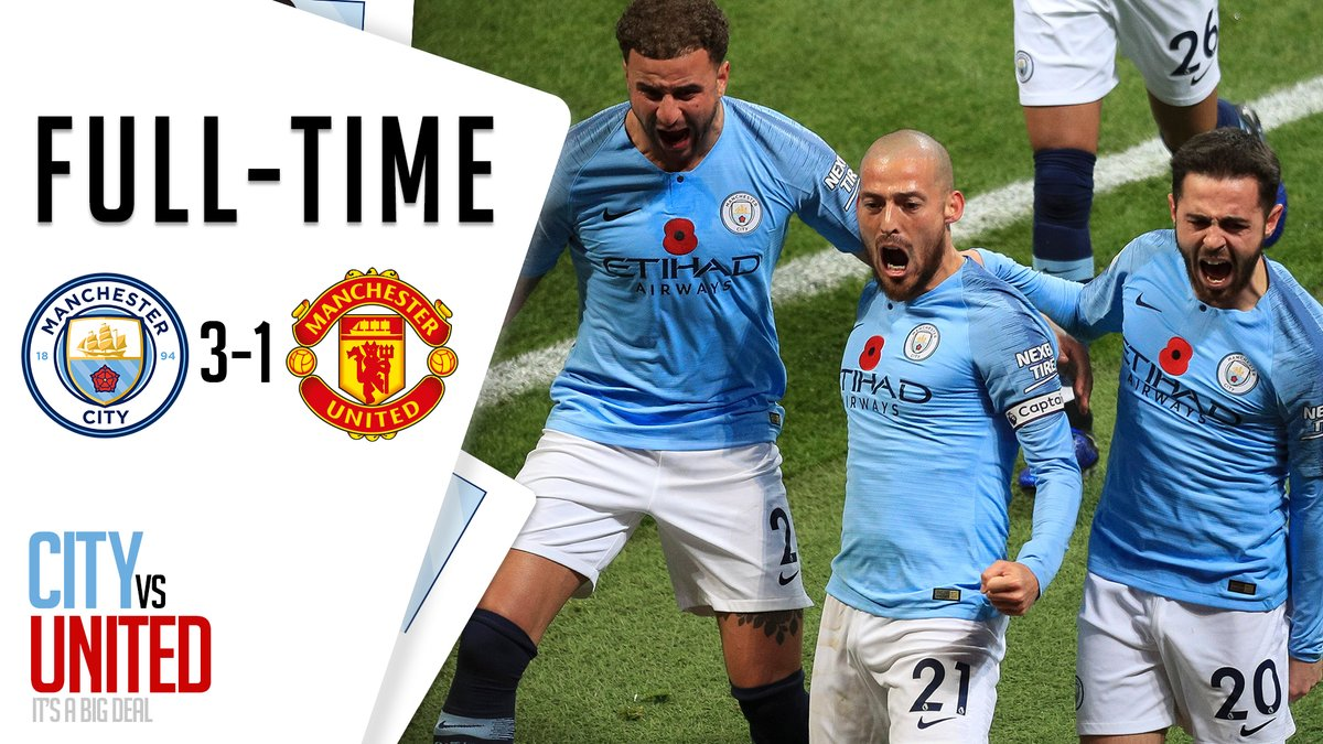 VIDEO: Manchester City 3 - 1 Manchester United [Premier league] Highlights 2018/19