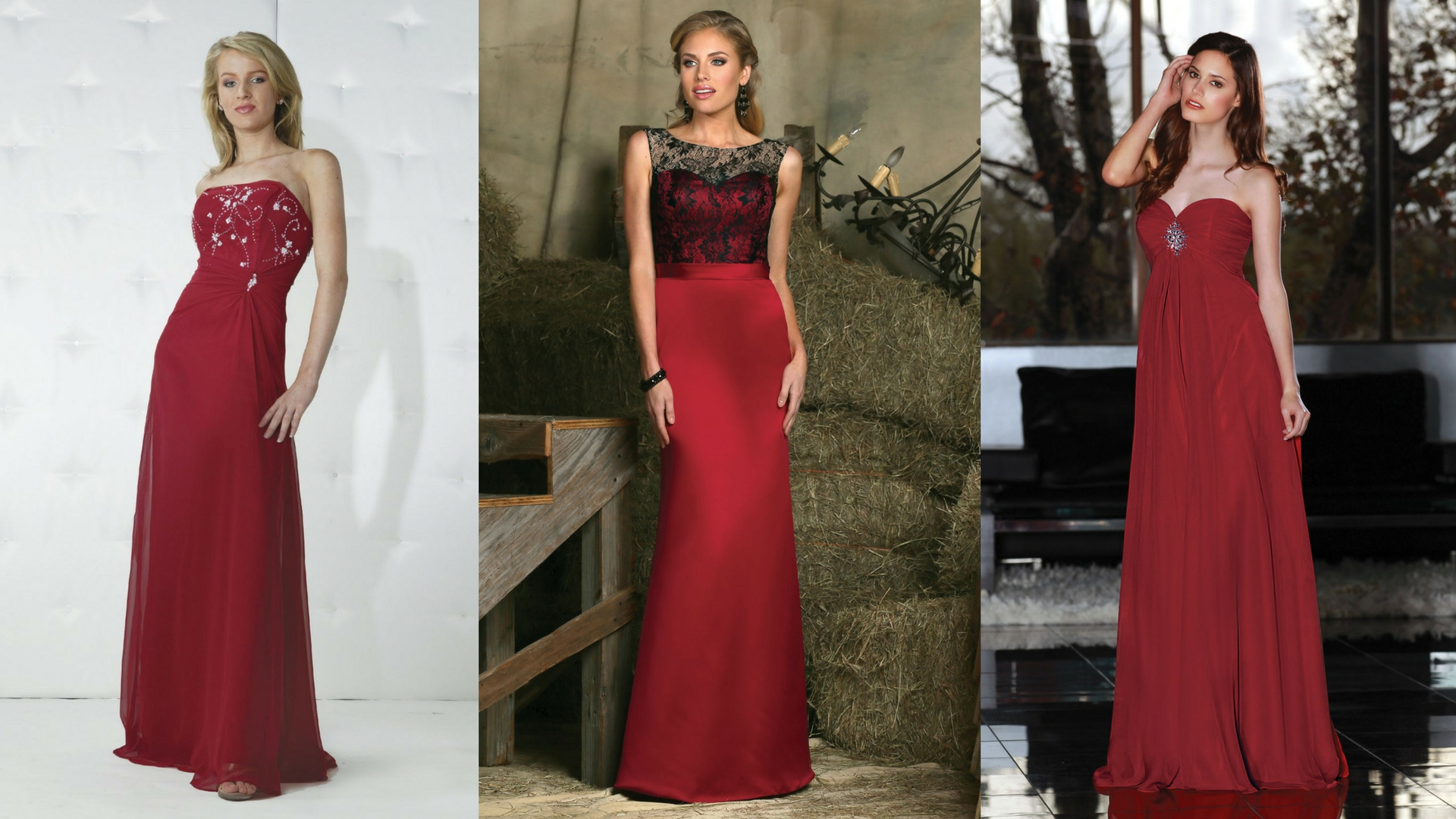 Roses Are Red 7 Crimson Dress Ideas For Your Bridesmaids