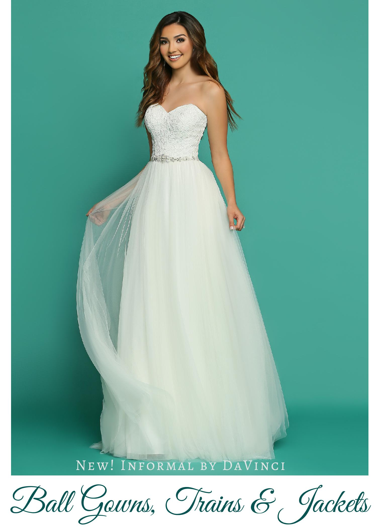New! Wedding Dresses from Informal by DaVinci: Beautiful Ball Gowns ...