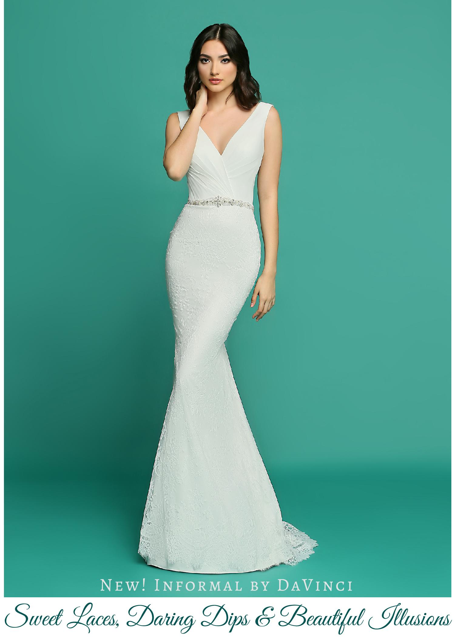New! Wedding Dresses from Informal by DaVinci: Sweet Laces, Daring ...