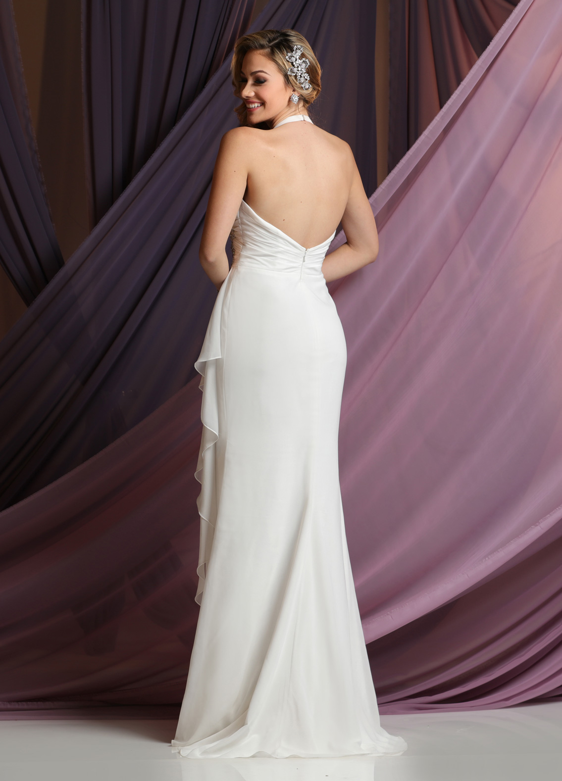 Halter & One Shoulder Informal Wedding Gown Collection - DaVinci ...