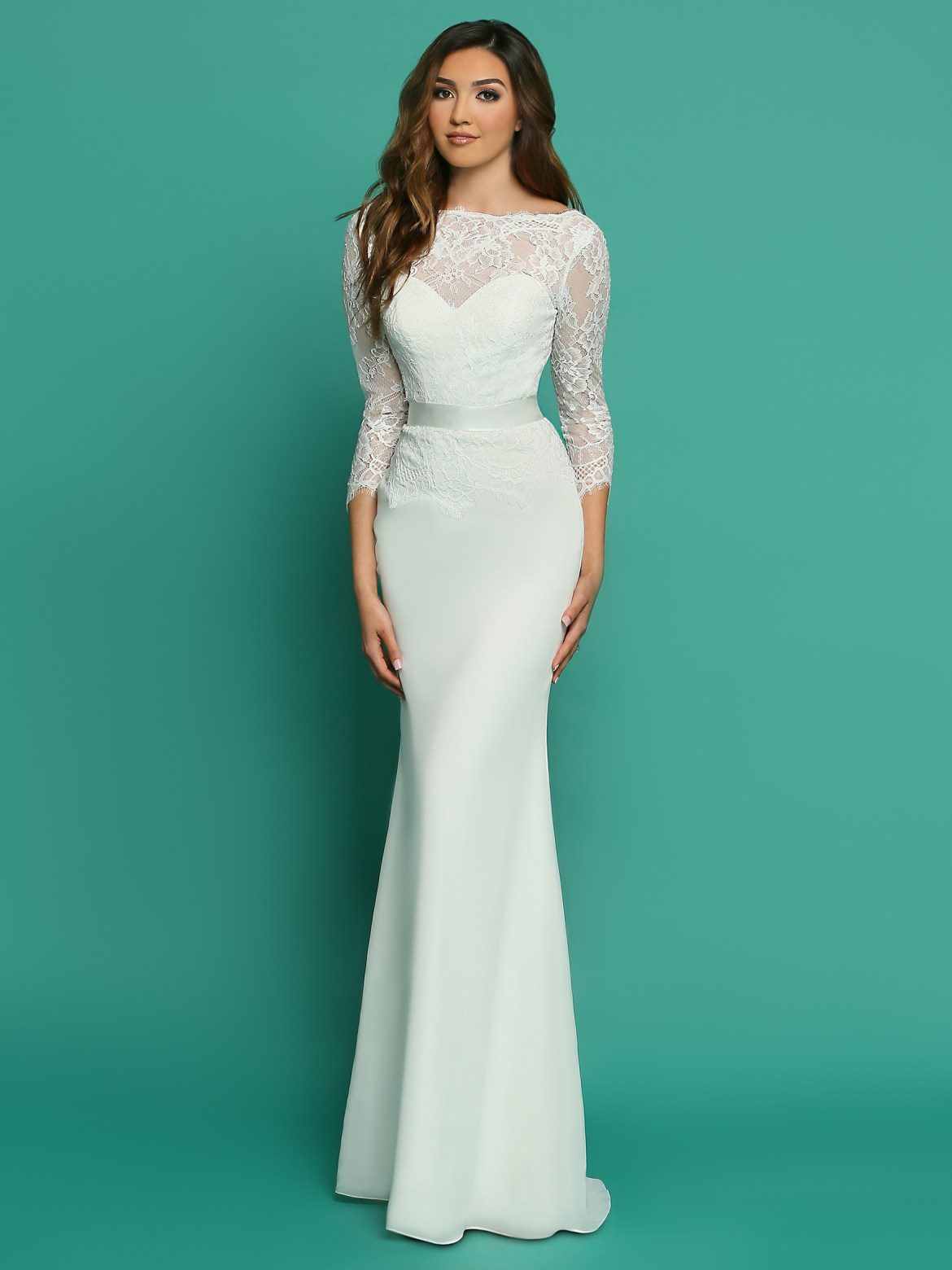Stunning Wedding Dresses with Sleeves   Jackets - DaVinci Bridal Blog 1577c4d3a