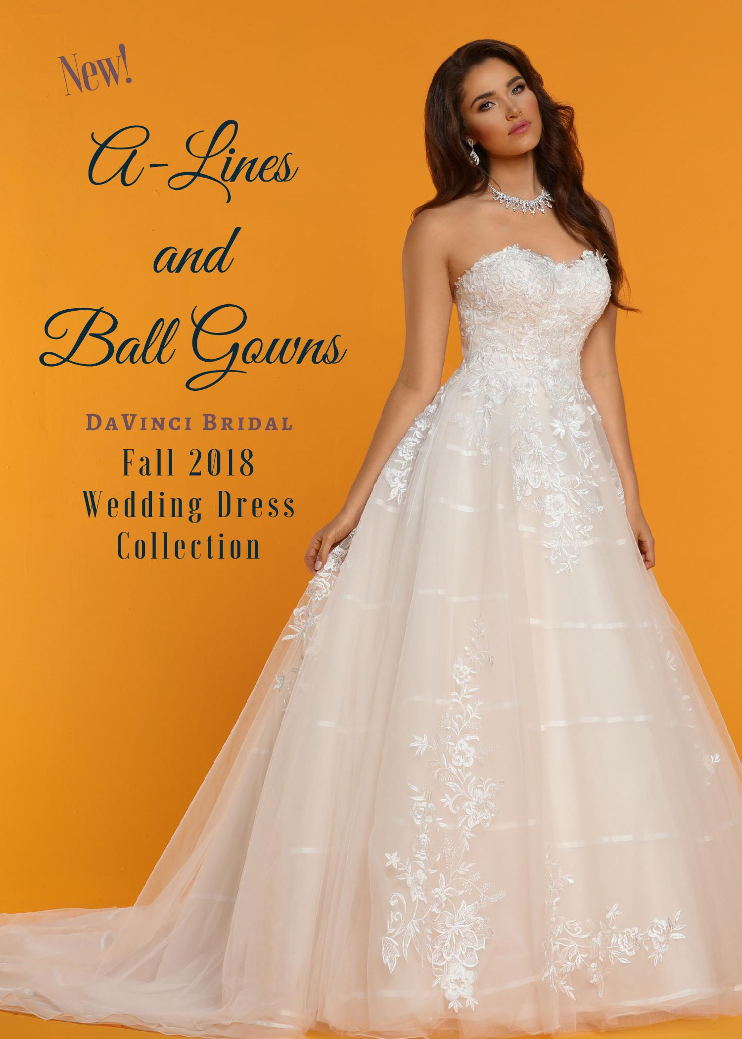 A-Line Ball Gown Wedding Dress Collection: New for Fall 2018