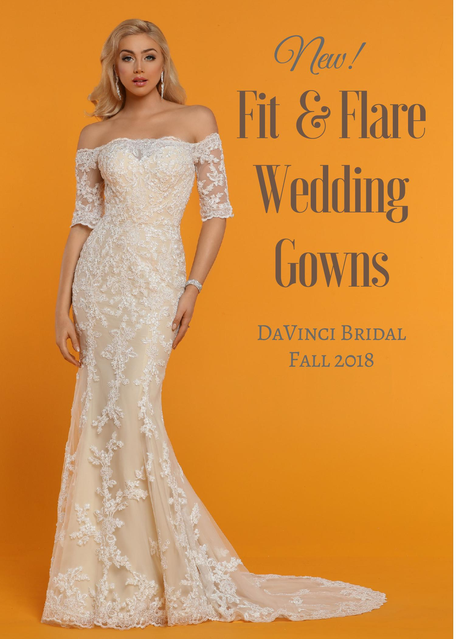 Fall 2018 Fit and Flare Wedding Dress Collection