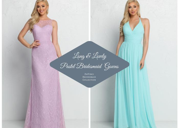 Floor Length Pastel Bridesmaids Dresses