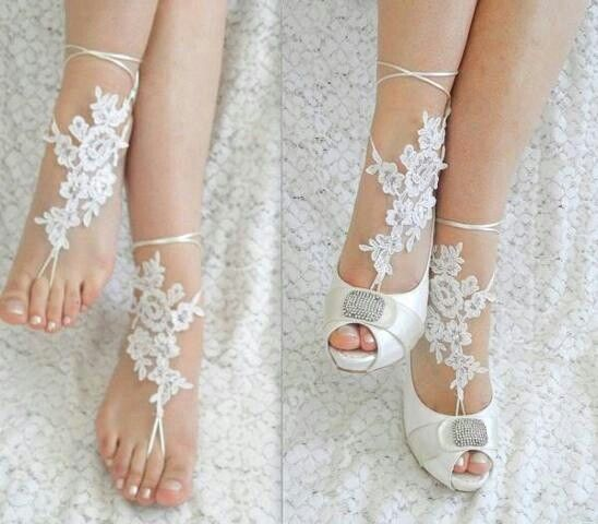 Elegant Barefoot Wedding Sandals For Beach Backyard