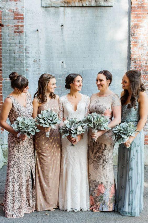 Mix and Match Bridesmaid Dresses