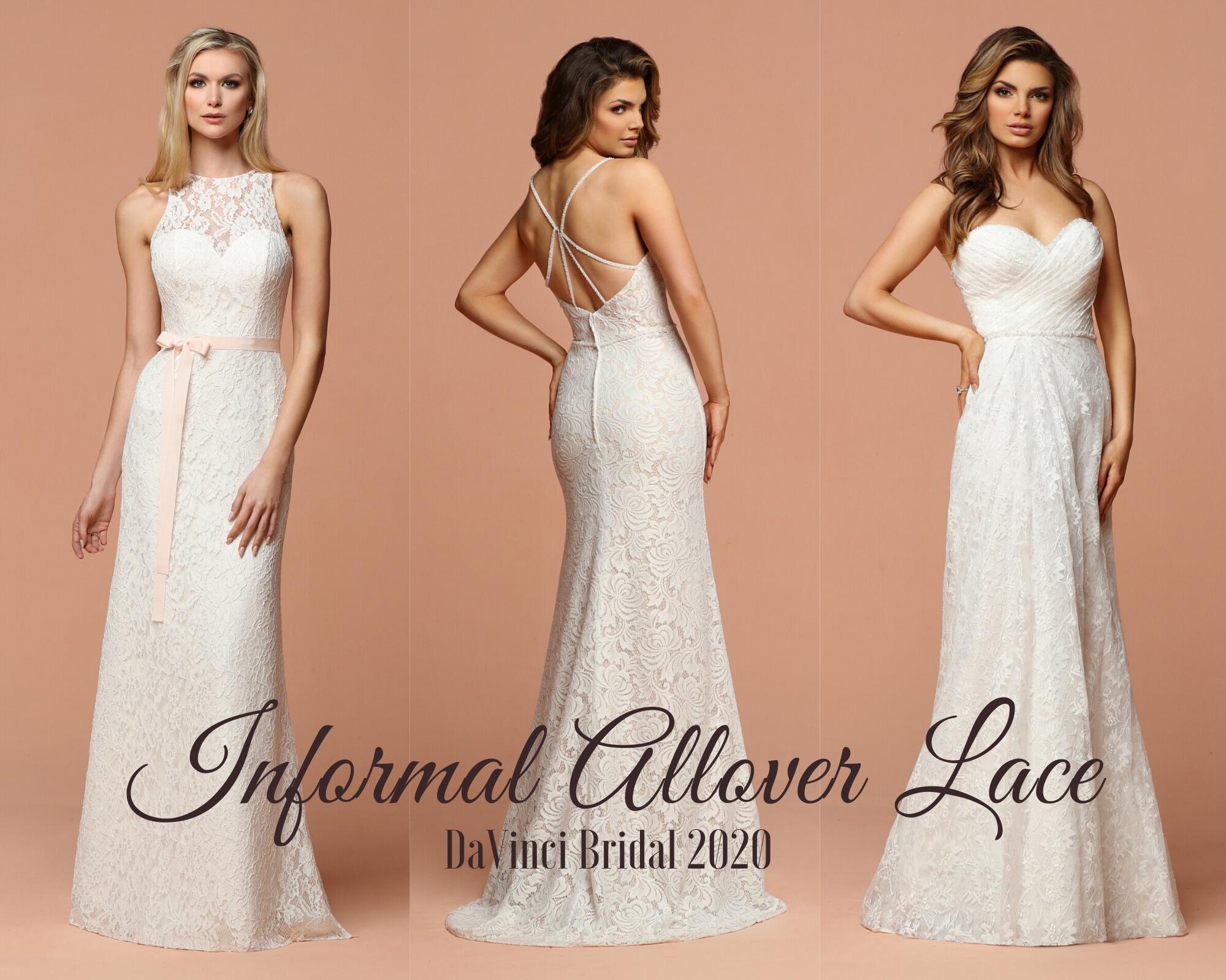 Destination Beach Wedding Dresses 2020 Allover Lace Davinci Bridal,Beach Cocktail Dress Wedding
