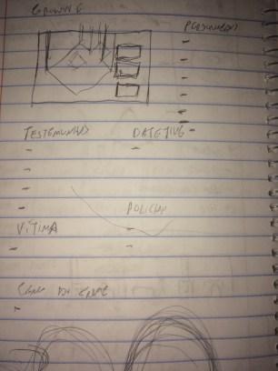 A primeira ideia outro jogo. Um adventure de mistério, mas eu não estava confiante nas minhas habilidades de escrita.