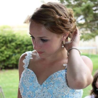 Clarissa's Senior prom looking down
