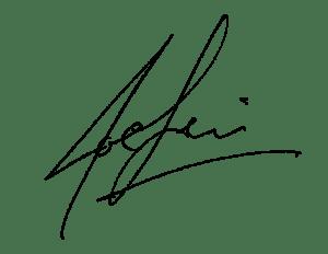 Signature, Joe Levi