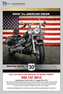Harley Davidson Give Away Ad