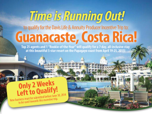 Costa Rica Flyer - 2 weeks left