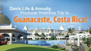 Guanacaste, Costa Rica Sales Incentive