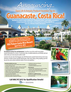 Producer Incentive Trip to Costa Rica