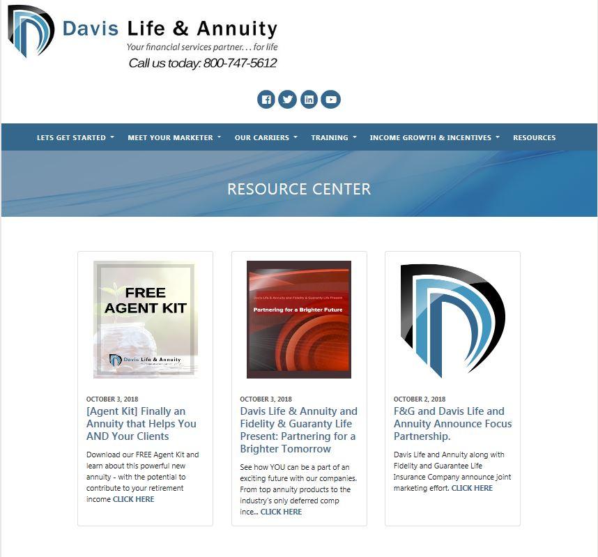 DLA Resource site page snapshot