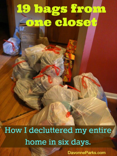 19 Bags from One Closet - How I Decluttered My Entire Home in Six Days